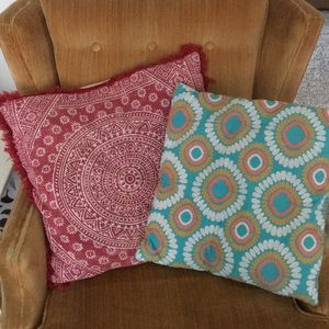 Cute boho pillows set of 2